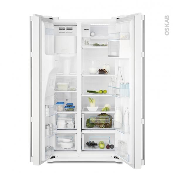 Réfrigérateur américain 549L - Pose libre 178 cm - Inox - ELECTROLUX - EAL6140WOU