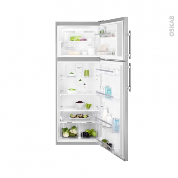 Réfrigérateur combiné 432L - Pose libre 183 cm - Inox Anti Trace - ELECTROLUX - EJF4850JOX