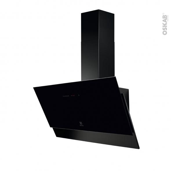 Hotte de cuisine aspirante - Inclinée 90cm - Noir - ELECTROLUX - LFV619K
