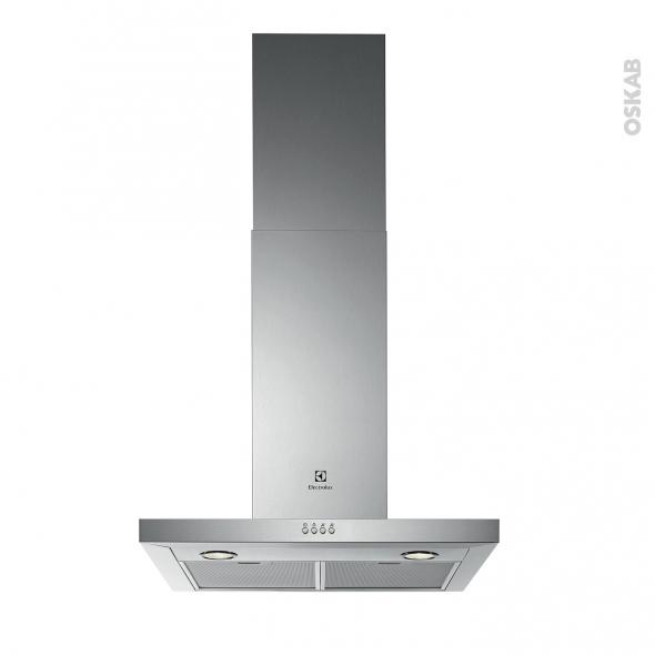 hotte de cuisine aspirante box 60 cm inox electrolux efc60467ox ... - Hotte Aspirante Decorative 60 Cm