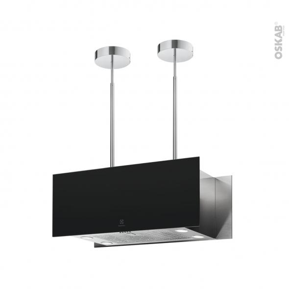 Hotte de cuisine aspirante - Ilôt décorative 90cm  - Noir Mat - ELECTROLUX - KFIA19R
