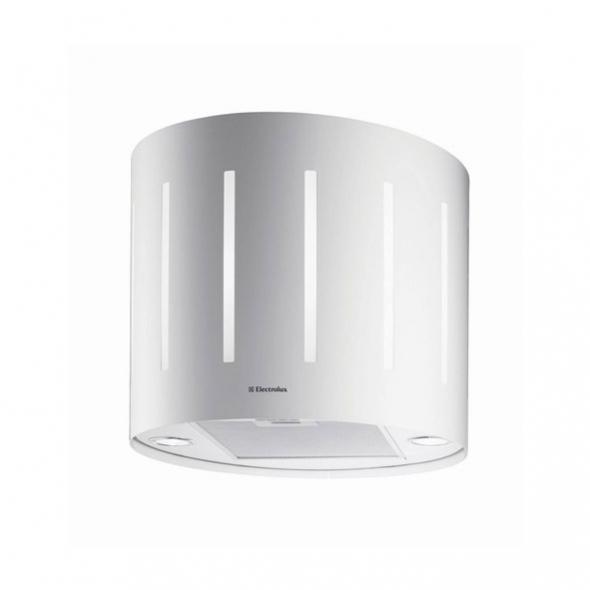 Hotte de cuisine aspirante - Ilot décorative lustre 49 cm - Blanc - ELECTROLUX - EFL50555OW