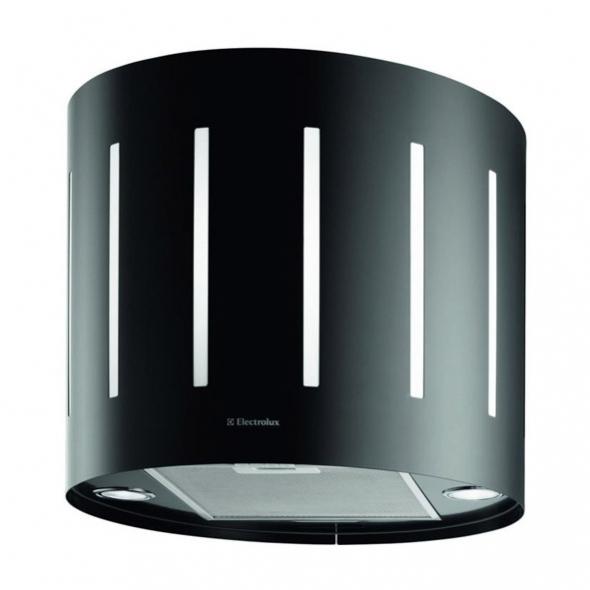 Hotte de cuisine aspirante - Ilot décorative lustre 49 cm - Noir - ELECTROLUX - EFL50555OK