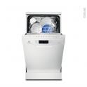 Lave vaisselle 9 couverts - Pose libre 45 cm - Blanc - ELECTROLUX - ESF4510LOW