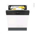 Lave vaisselle 60CM - Intégrable 13 couverts - Noir - FAURE - FDI26016NA