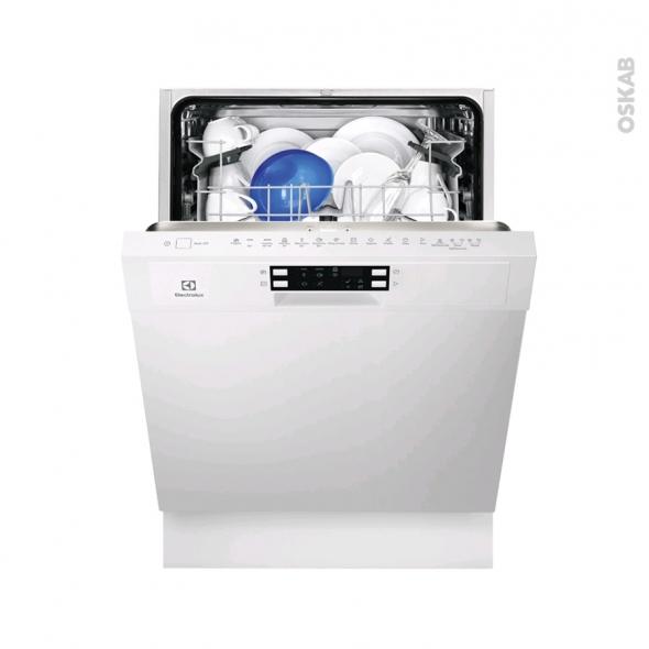 Lave vaisselle 60CM - Intégrable 13 couverts - Blanc - ELECTROLUX - ESI5515LAW