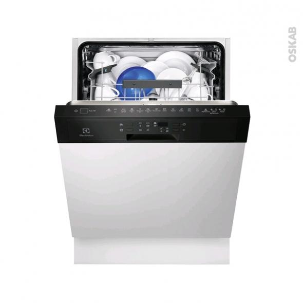 Lave vaisselle 60CM - Intégrable 13 couverts - Noir - ELECTROLUX - ESI5515LAK