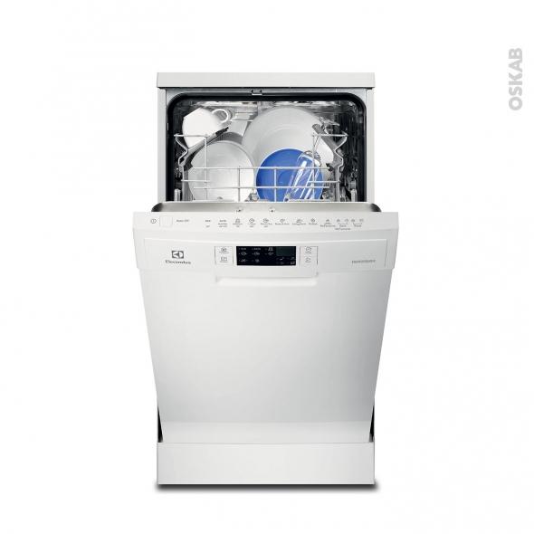 Lave vaisselle 45CM - Pose libre 9 couverts - Blanc - ELECTROLUX - ESF4510LOW