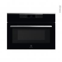 Four micro-ondes 43L - Intégrable 45cm - Verre Noir et Inox - ELECTROLUX - KVLBE08WX