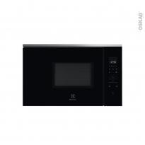 Micro-ondes - Intégrable 36cm 17L - Noir et Inox anti-trace -  ELECTROLUX - KMFE172TEX