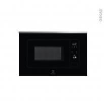 Micro-ondes - Intégrable 38cm 20L - Noir et Inox anti-trace -  ELECTROLUX - LMS2203EMX