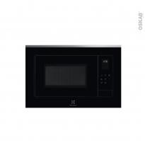 Micro-ondes - Intégrable 38cm 25L - Noir et Inox anti-trace - ELECTROLUX - LMS4253TMX