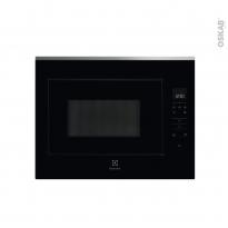 Micro-ondes - Intégrable 45cm 26L - Noir et inox anti-trace - ELECTROLUX - KMFE264TEX