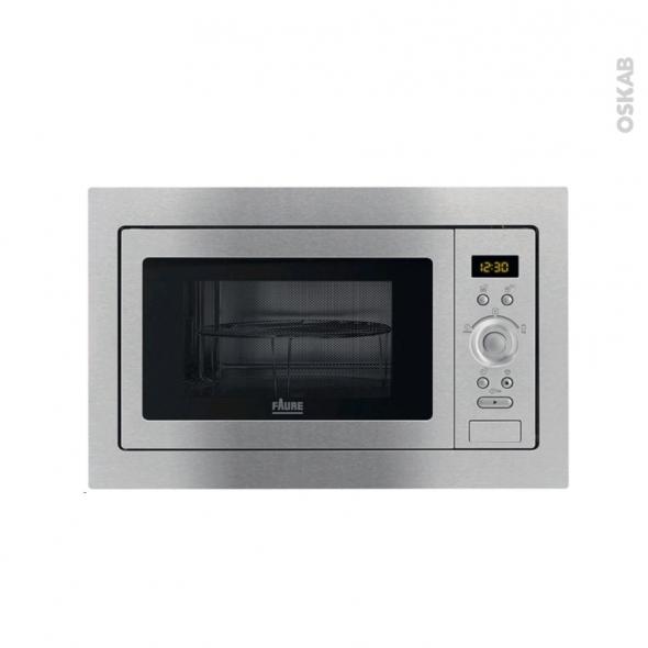 Micro-ondes grill - Intégrable 38xm 25L - Inox Anti Trace - FAURE - FSG25224XA