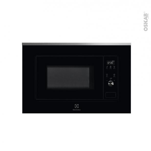 Micro-ondes - Intégrable 38cm 17L - Noir et Inox anti-trace - ELECTROLUX - LMS2173EMX