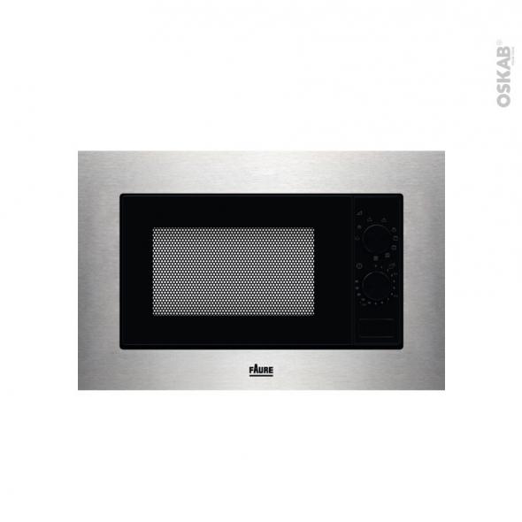 Micro-ondes grill - Intégrable 38cm 20L - Inox - FAURE - FMSN6DX