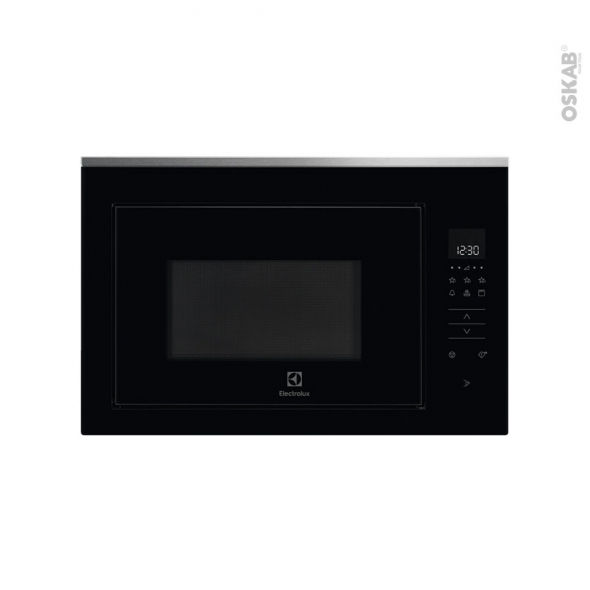 Micro-ondes grill - Intégrable 38cm 26L - Noir et Inox anti-trace - ELECTROLUX - KMFD263TEX