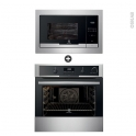 Pack électroménager design - Four Pyrolyse EOC6631AAX - Micro-Ondes EMT25207OX - Inox - ELECTROLUX