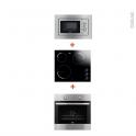 Pack cuisson - Electroménager encastrable - Four catalyse 72L - Plaque vitrocéramique 3 feux - Micro-ondes 17L - FAURE
