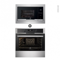 Pack électroménager design - Four Pyrolyse EOC5641GAX - Micro-Ondes EMT25207OX - Inox - ELECTROLUX