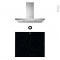 Pack design assorti - Electroménager encastrable - Technologie Hob²Hood - Plaque induction 3 foyers - Hotte box 90cm - ELECTROLUX