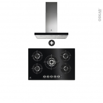 Pack design assorti - Electroménager encastrable - Hob 2 Hood - Plaque gaz 5 foyers - Hotte box 90cm - ELECTROLUX