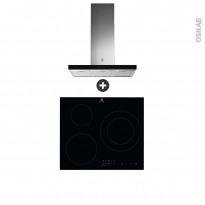 Pack design assorti - Electroménager encastrable - Hob 2 Hood - Plaque induction 3 foyers - Hotte box 90cm - ELECTROLUX