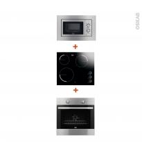 Pack cuisson électro - Four Catalyse 72L - Plaque Vitro 3 foyers - Micro-ondes 17L - FAURE