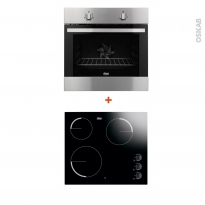 Pack cuisson électro - Four Catalyse 72L - Plaque Vitro 3 foyers - FAURE