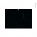 Plaque de cuisson 3 feux - Induction 75cm - Verre Noir - ELECTROLUX - EIV73342
