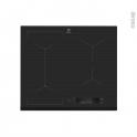 Plaque de cuisson 4 feux - Induction 60cm - Verre Noir - ELECTROLUX - EIS6448