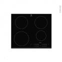 Plaque induction - 4 foyers L60cm - Verre Noir - ELECTROLUX - EHH6540F8K