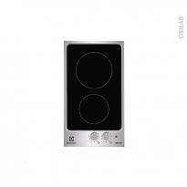 Plaque de cuisson 2 feux - Induction 29 cm - Verre Noir et Inox - ELECTROLUX - EHH3920IOX