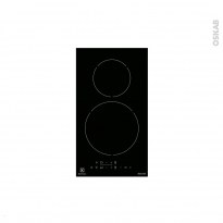 Domino induction - 2 foyers L30cm - Verre Noir - ELECTROLUX - EHH3320NVK