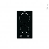 Plaque de cuisson 2 feux - Vitrocéramique 29 cm - Verre Noir - FAURE - FHF3920BOK