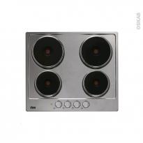 Plaque de cuisson 4 feux - Electrique 60 cm - Email Inox - FAURE - FEE6940FXA