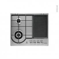 Plaque de cuisson 4 feux - Gaz 60 cm - Inox - ELECTROLUX - EGH6349GOX