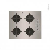 Plaque de cuisson 4 feux - Gaz 60 cm - Inox - ELECTROLUX - EGT6142NOX