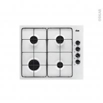 Plaque de cuisson 4 feux - Gaz 60 cm - Blanc - FAURE - FGH62414WA