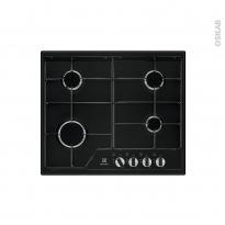 Plaque de cuisson 4 feux - Gaz 60 cm - Email Noire - ELECTROLUX - KGS6424K