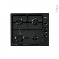 Plaque de cuisson 4 feux - Gaz 60 cm - Email Noire - FAURE - FGG62414BA