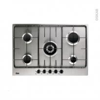 Plaque de cuisson 5 feux - Gaz 75 cm - Inox - FAURE - FGG75524XA
