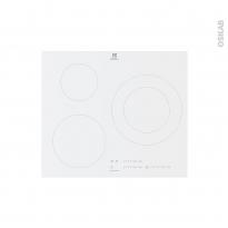 Plaque de cuisson 3 feux - Induction 60 cm - Verre Blanc - ELECTROLUX - LIT60342CW