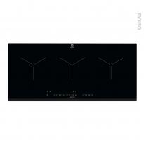 Plaque de cuisson 3 feux - Induction 90 cm - Verre Noir - ELECTROLUX - EIT913