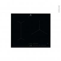Plaque de cuisson 3 feux - Induction 60 cm - Verre Noir - ELECTROLUX - EIV63341BK
