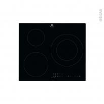 Plaque de cuisson 3 feux - Induction 60 cm - Verre Noir - ELECTROLUX - LIT60336CK