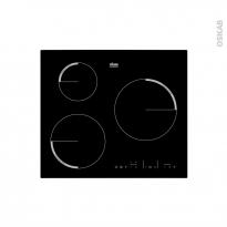 Plaque de cuisson 3 feux - Induction 60 cm - Verre Noir - FAURE - FEL6633FBA