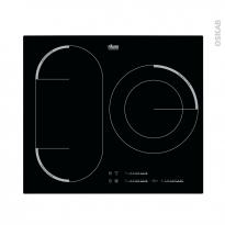 Plaque induction - 3 foyers L60cm - Verre noir - FAURE - FEM6732FBA