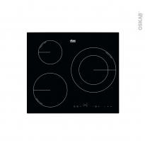 Plaque induction - 3 foyers - Verre Noir - FAURE - FIT6366CB
