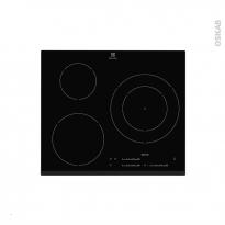 Plaque induction - 3 foyers L60cm - Verre Noir - ELECTROLUX - EHM6532FHK